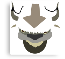 Appa - The Last Airbender (white) Canvas Print