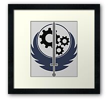 Brotherhood of Steel Framed Print