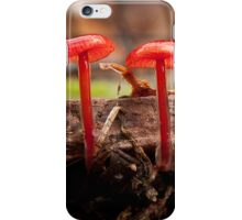 Mycena Viscidocruenta 2 iPhone Case/Skin