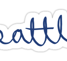 Seattle Cursive - City Scroll Sticker
