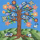 'Birdie Tree' - Inspired by Spring by Lisa Frances Judd~QuirkyHappyArt
