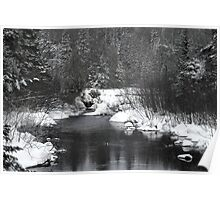 """Little Stream """"alive"""" in the Deep Freeze :) Poster"""
