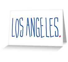 Los Angeles - City Scroll Greeting Card