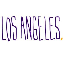 Los Angeles LAL - City Scroll Photographic Print