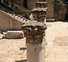 Row of Pillars @ Cardo, Jerusalem by Riihele