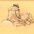 Southern Man horseback by Alleycatsgarden