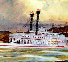 The Robert E Lee Paddle Wheeler 1866 - all products bar duvet by Dennis Melling