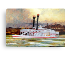 The Robert E Lee Paddle Wheeler 1866 - all products Metal Print