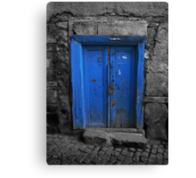 Blue Door In The Castle Canvas Print