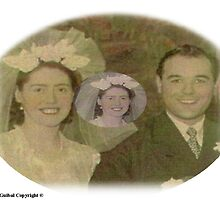 Mr Mrs Guibal's Wedding Day 1940s by Baron Guibal J P Dip