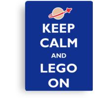 Keep Calm and Lego On Canvas Print