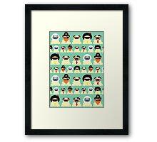 Pug pattern Framed Print