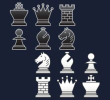 Chess - Black and white blocks by Rocky64