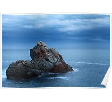seascape  rock in the sea Poster
