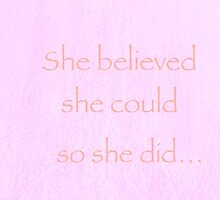 She believed she could so she did  by MermaidMusic
