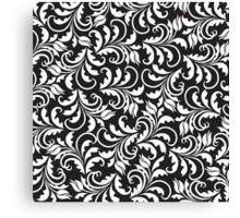 b&w tulip pattern Canvas Print