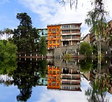 El Barranco In Cuenca Reflected by Al Bourassa