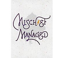 """Harry Potter """"Mischief Managed"""" Photographic Print"""