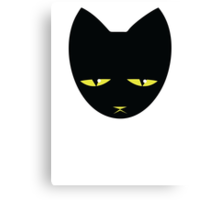 Unimpressed cat! angry black cat cross Canvas Print