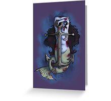 Zombie mermaid  Greeting Card