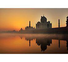 Taj Mahal at Sunrise Photographic Print