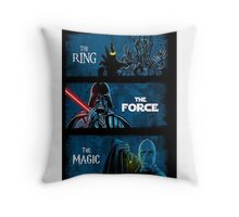 The Ring, The force, The magic Throw Pillow