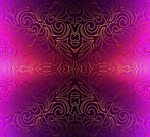 Floral Abstract Damasks by Medusa81