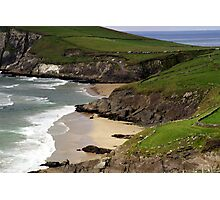 The sandy beach at Couminole Photographic Print