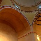 Mission Concepción Arches and Dome by Roger Passman