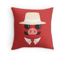 Minimal Porco Throw Pillow