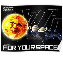 THE PLANETS ACCORDING TO Dr. Steve Brule Design by SmashBam Poster