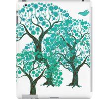 Three decorative trees with birds iPad Case/Skin