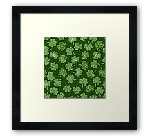 shamrocks Framed Print