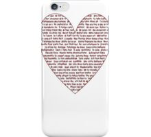 I Love You All Over My Heart iPhone Case/Skin