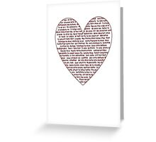 I Love You All Over My Heart Greeting Card