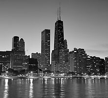 Chicago skyline at sunset by mvpaskvan