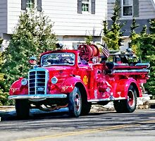 Old Fashioned Fire Truck by Susan Savad