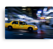 NYC Taxi 1W91 Canvas Print