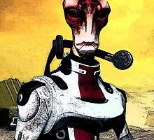 Mordin Mass Effect - Portrait Nerdy by peetamark