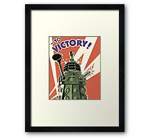 Daleks to the Victory - Doctor Who Framed Print