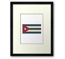 Cuban Flag Framed Print