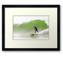 Surfin' the Big One Framed Print