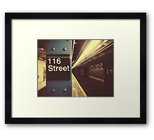 New York City Subway Framed Print