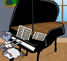 Piano Practice by elledeegee