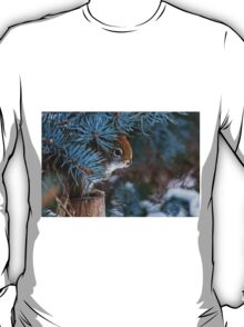 Red Squirrel in Spruce tree - Ottawa, Ontario - 2 T-Shirt