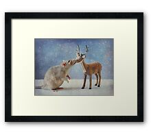 Wishing you a Peaceful New Year Framed Print