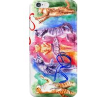 Dancing cats iPhone Case/Skin
