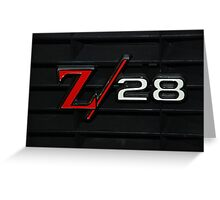 69 Z28 none as the ZAPPER Greeting Card