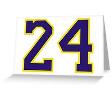 Kobe Bryant 24 Greeting Card