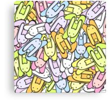 color bunnies Canvas Print